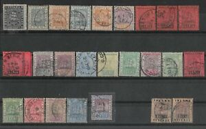 BRITISH GUIANA 1862-1907 Small Collection Used.