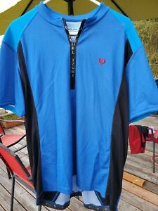 Pearl Izumi Mens Cycling Jersey Blue/Black XXL Zip Short Sleeve