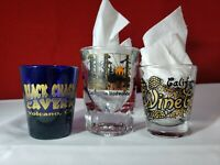 Collectible Shot Glasses California Redwoods, Black Chasm Cavern, Wine Country