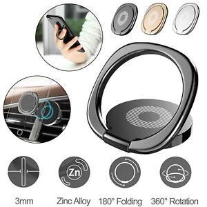Baseus 360° Finger Ring Stand Phone Holder Desk Bracket Car Magnetic Metal Plate
