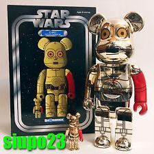 Medicom 400% + 100% Bearbrick ~ Star Wars C3PO Be@rbrick The Force Awakens Ver