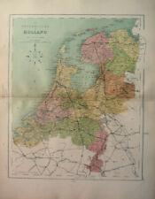 Antique Map Of Holland Netherlands 1871