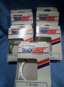 """Stewart-Warner Track Force 1 Hole 2 5/8"""" Mounting Panel F-811659 Lot of 5"""
