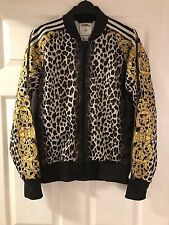 Jeremy Scott Adidas Leopardato Giacca Medium