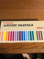 Vintage Smi Artist Pastels 12 Square Assorted Colors Nos