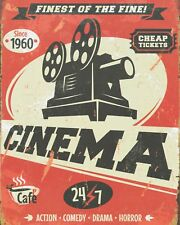 CINEMA VINTAGE PROJECTOR PICTURE HOUSE MOVIES FLICKS METAL SIGN TIN PLAQUE 998