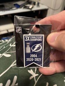 Tampa Bay Lightning 3X Banner Pin NHL