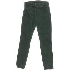NEW Womens Stunning J Brand Forrest Green Skinny Mid Rise Corduroy AU 10 W28 L30