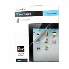 BELKIN SCREEN PROTECTOR FOR IPAD 4 3 2 ANTI SMUDGE FINGER TRUCLEAR 1PK F8N801CW