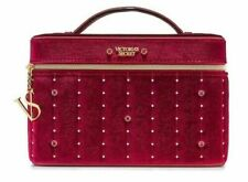 Nwt Victoria's Secret Velvet Stud Runway Vanity Case- Wine Rare