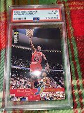 1995 Collector's Choice #195 - Michael Jordan - Psa 8 Nm-Mt - Bulls / Upper Deck