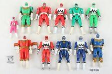 Power Rangers Turbo, Lost Galaxy, Zeo, Lightspeed Rescue Flip Head figure lot