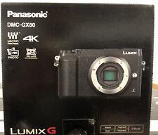 Panasonic Lumix GX80 Mirrorless Camera Body- Black