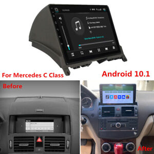 Android 10.1 GPS Radio Navigation For 2007-10 C200 C250 C300 C350 C63 W204 S204