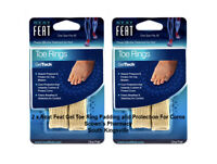 2 x Neat Feat Gel Toe Ring Padding and Protection For Corns & Blisters