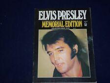 1977 OCTOBER ELVIS PRESLEY MEMORIAL EDITION MAGAZINE - ELVIS PRESLEY - SP 9903