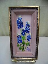 "VTG Signed Florence Kohl Framed Hyacinth Floral Still Life Oil Painting 5"" x 9"""