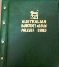 AUSTRALIAN DECIMAL 1988 - 2017 POLYMER BANKNOTE Illustrated ALBUM GREEN Colour