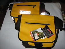 Axiom Typhoon DBL R PAN cycling bags in yellow and black