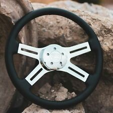"18"" Leather Steering Wheel Chrome Spoke 5-Bolt  Kenworth, Peterbilt, Volvo"