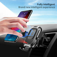 Baseus Car Holder Mount Fast Wireless Charger For iPhone 11 12 Pro 8 X XR XS Max