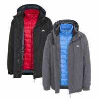 Trespass Mens Waterproof 3 in 1 Jacket Windproof Down Coat Pathway