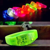 LED Light Voice Control Bracelet Bangle Sound Activated For Party Rave Concert