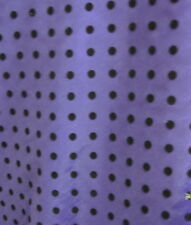 Purple/Polyester Flock spot Taffeta Fabric