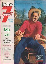 ►Télé 7 Jours 264 (1965) ROGER LANZAC_SYLVIE VARTAN_CLAUDE FRANÇOIS_G.CINQUETTI