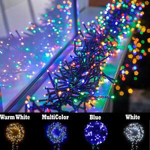 Premier 240 480 720 960 2000LEDs Christmas Cluster String Fairy Xmas Tree Lights