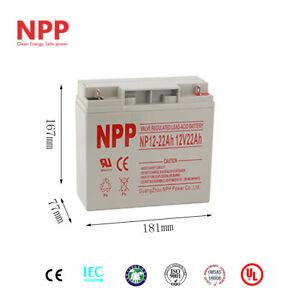 NPP 12V 22 Ah 12Volt Deep Cycle SLA Sealed Lead Acid Rechargeable Battery