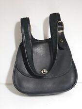 GEORGETOWN LEATHER DESIGN Black Leather Crossbody Messenger Satchel Bag