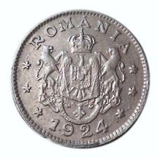 Romania 1 Leu Coin 1924 Ferdinand I Very Fine