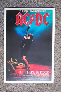 AC/DC Let There Be Rock 1982 Concert Movie Poster #1