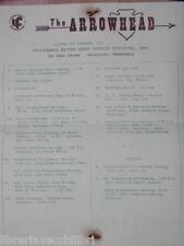 The ARROWHEAD Columbia River Girl Scout Council november 1962 booklet calendar