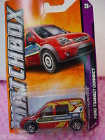 2012 Matchbox  #3 FORD TRANSIT CONNECT ∞RED∞AIRPORT Connector