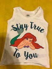 Preowned Toddler Girls Disney Ariel Sleeveless White Tank Top Little Mermaid 4T