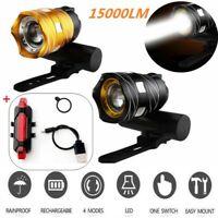 USB wiederaufladbare 15000LM Frontlicht Fahrrad LED Scheinwerfer Taschenlampe DE