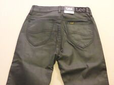 037 WOMENS NWT LEE HIGH LICKS LUX BLACK STRETCH JEANS 6 $170 RRP.