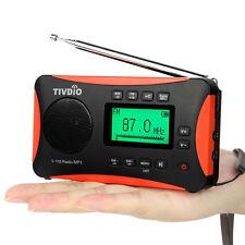 New TIVDIO FM Radio MW SW MW SW Récepteur mondial Lecteur MP3 avec réveil