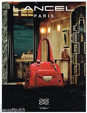 PUBLICITE ADVERTISING 065  2009  LANCEL   boutique maroquinerie sac ADJANI