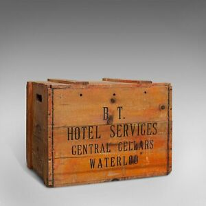 Vintage Champagne Case, English, Pine, Chest, Wine Carrier, 20th Century, C.1950