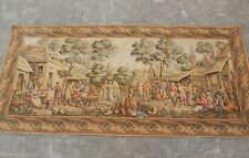 Large Vintage French Beautiful Party and Dancing Scene Tapestry 221x102cm A1021