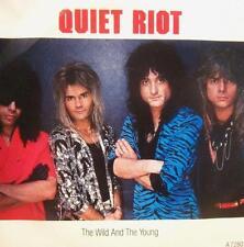 """Vinilo Quiet Riot (7"""") el salvaje y el joven-épico-a 7280-UK-Ex -/EX"""