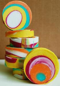 Luxurious vegan handmade soap. Natural, for sensitive skin. Rose geranium.