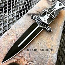 TAC-FORCE Spring Assisted Open CELTIC CROSS Folding STILETTO Pocket Knife BLACK