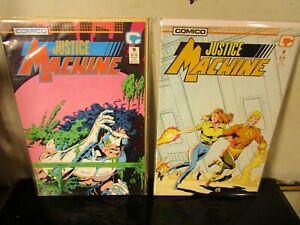 #16 -17 LOT Justice Machine 1988 Comico Comics BAGGED BOARDED~