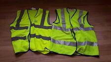 4x fluorescent Hi-visibility jackets / gilets. Various sizes