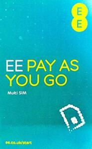 EE  Pay as you go Trio Sim Card Preloaded With £10 Credit