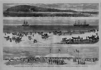 DUXBURY MASSACHUSETTS 1869 CELEBRATION OF THE COMPLETION OF THE FRENCH CABLE